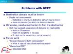 problems with brpc