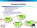 pseudowire routing