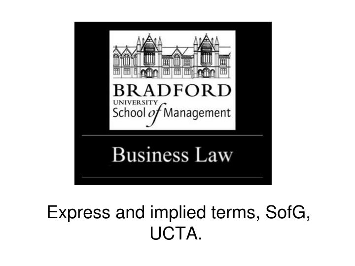 express and implied terms sofg ucta n.