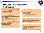problem formulation job grouping23