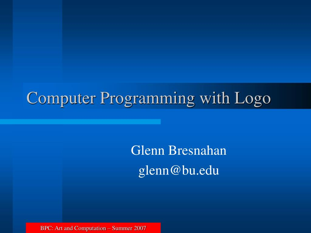 computer programming with logo l.