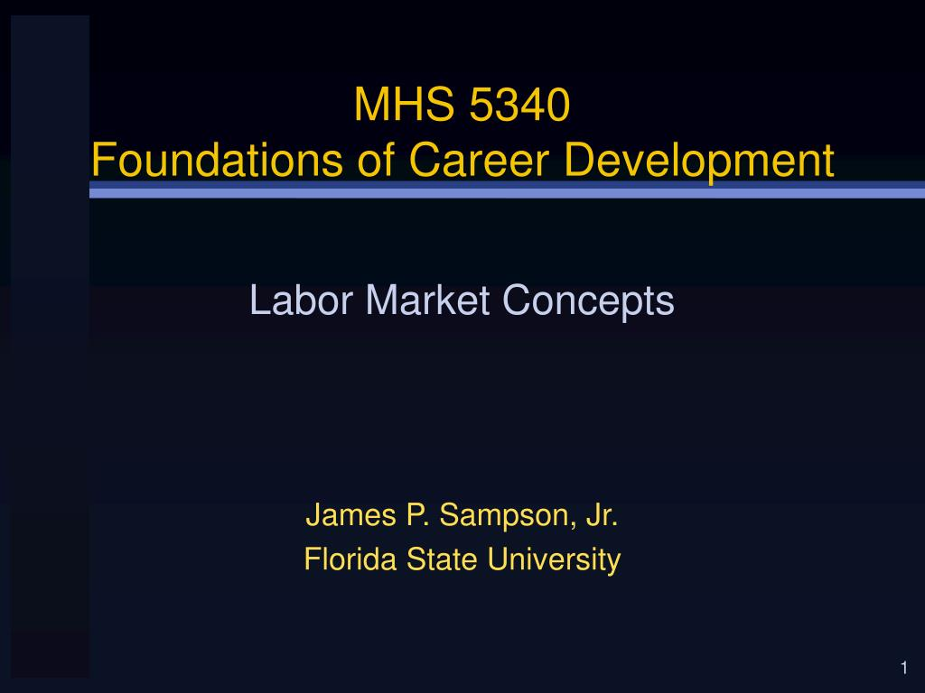 mhs 5340 foundations of career development l.