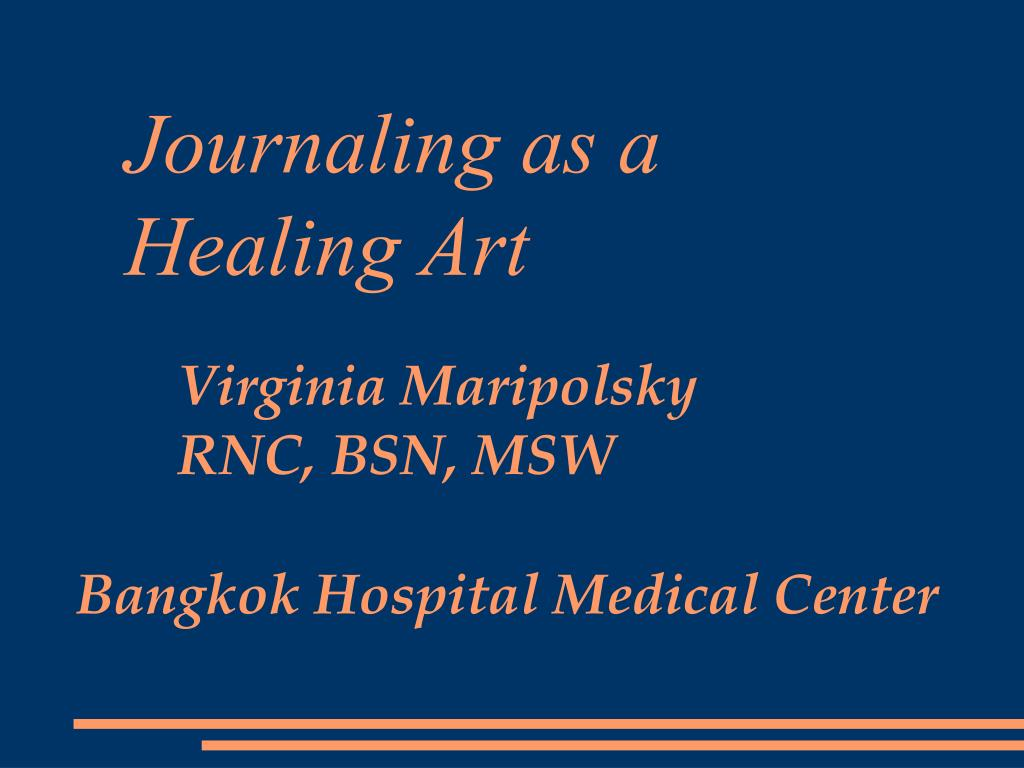 journaling as a healing art l.