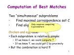 computation of best matches3