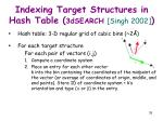 indexing target structures in hash table 3dsearch singh 2002