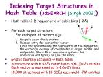 indexing target structures in hash table 3dsearch singh 200238