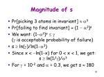 magnitude of s