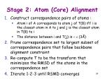 stage 2 atom core alignment