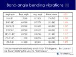 bond angle bending vibrations ii