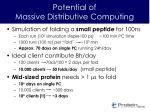 potential of massive distributive computing