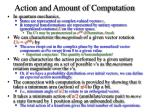 action and amount of computation