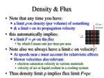 density flux