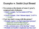 examples w smith lloyd bound