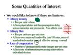 some quantities of interest21