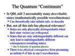 the quantum continuum