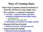 ways of counting states