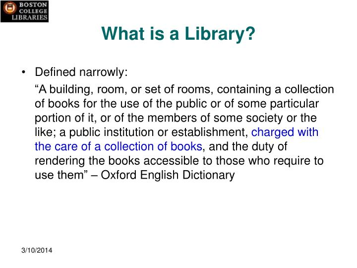 What is a library