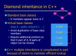diamond inheritance in c