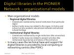 digital libraries in the pionier network organizational models