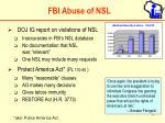 fbi abuse of nsl