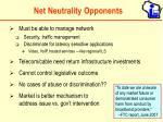 net neutrality opponents