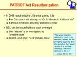 patriot act reauthorization