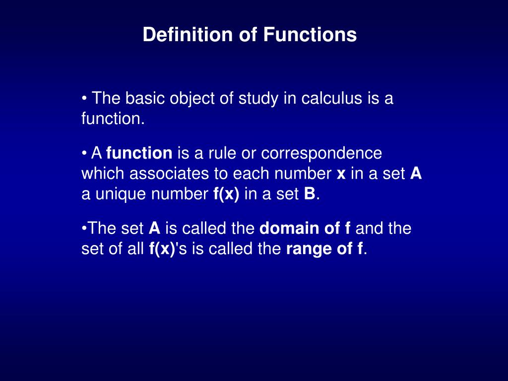 definition of functions l.