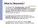 what is obscenity10