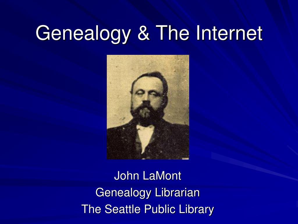 genealogy the internet l.