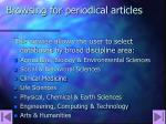 browsing for periodical articles32