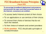 fcc broadband access principles august 2005