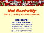 net neutrality what is it and why should libraries care