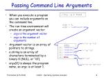 passing command line arguments