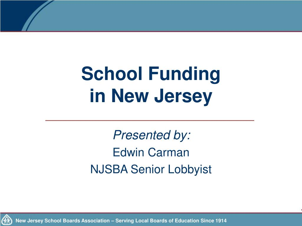 school funding in new jersey l.