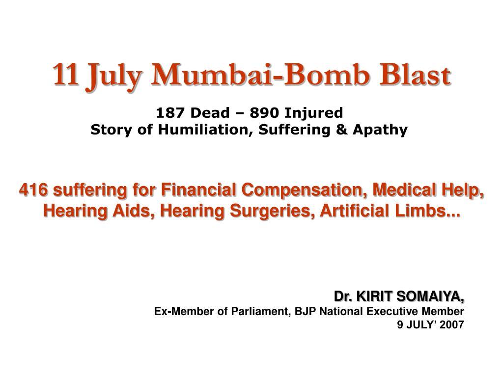11 july mumbai bomb blast l.