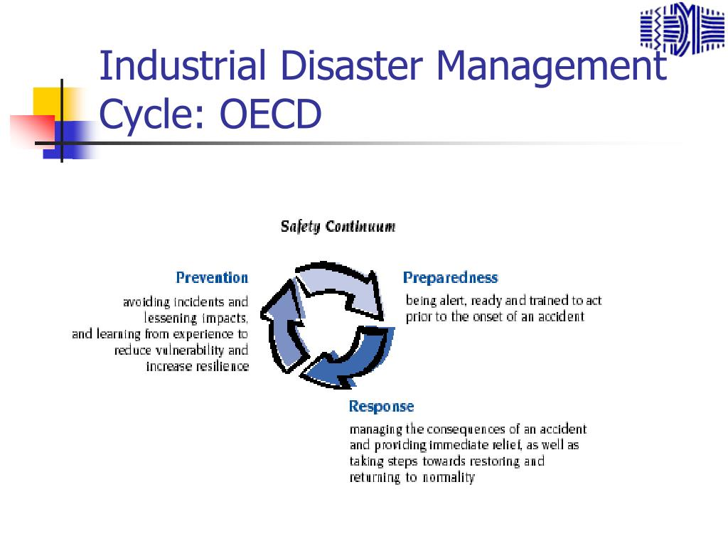 Industrial Disaster Management Cycle: OECD