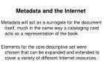 metadata and the internet15