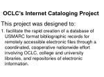 oclc s internet cataloging project3