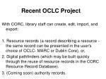 recent oclc project31