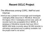 recent oclc project32