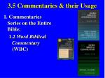 3 5 commentaries their usage31