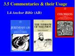3 5 commentaries their usage33