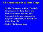 3 5 commentaries their usage34
