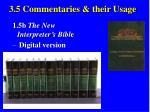 3 5 commentaries their usage35