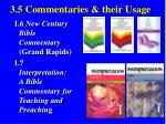 3 5 commentaries their usage36
