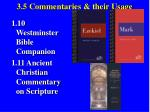 3 5 commentaries their usage38