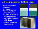 3 5 commentaries their usage39