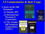 3 5 commentaries their usage40