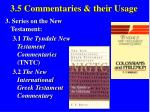 3 5 commentaries their usage41