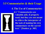 3 5 commentaries their usage42